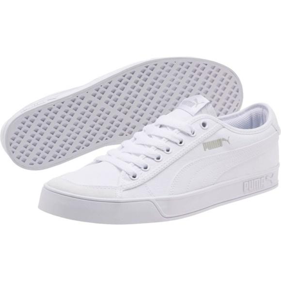 puma white canvas shoes \u003e Clearance shop